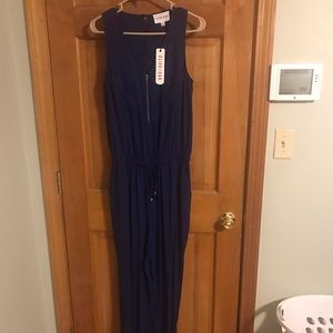 Navy blue olive and oak jumpsuit NWT Size M